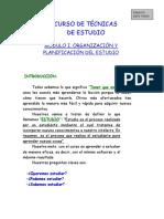 Curso de Técnicas de Estudio.doc Revisado