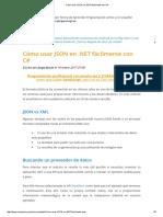 Cómo Usar JSON en