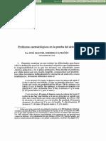 Problemas Metodologicos en La Prueba Del Dolo- Paredes Castañon