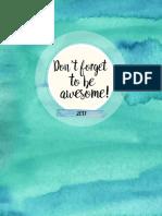 Basic 2017 Printable Planner