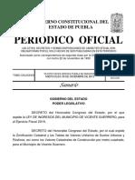 Ley de Ingresos Vicente Guerrero