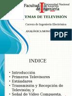 2016 08 01 STV 1 Sistemas de Televisión Analógica Monocromática