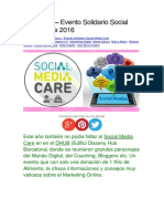 Barcelona – Evento Solidario Social Media Care 2016