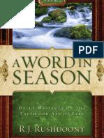 Word in Season Volume 2, A