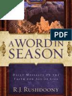 Word in Season Vol 3, A