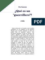 Che Guevara. Que Es Un Guerrillero.