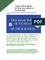 Cómo Descargar Videos Desde Facebook Sin Tener Que Utilizar Un Programa de Descarga