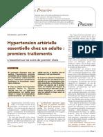 Hypertension Artérielle Essentielle Chez Un Adulte