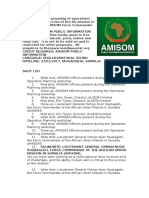 Effective planning of operations critical to the success of the AU mission in Somalia, says AMISOM Force Commander