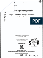 Review of Light Infantry Doctrine