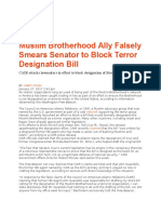 Muslim Brotherhood CAIR Falsely Smears Cruz to Block Terror Designation Bill