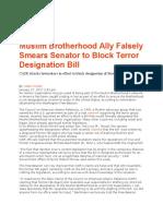 Muslim Brotherhood CAIR Falsely Smears Cruz to Block Terror Designation Bill