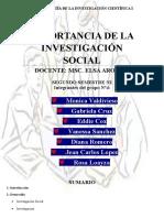 Grupo 4 - Importancia de La Investigacion Social