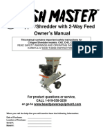 Chipper/Shredder with 2-Way Feed - Owner's Manual