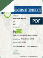 Membership Certificate AM10100054039