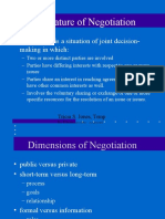 Nature of Negotiation