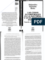 Las Cosas Incorporales en La Doctrina y en El Derecho Positivo
