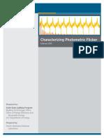 Characterizing Photometric Flicker - US Department of Energy