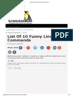 List of 10 Funny Linux Commands _ Unixmen