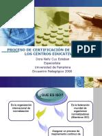 Certificaciàn de Calidad en Los Centros Educativos