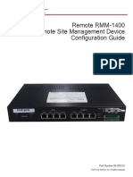 Remote RMM 1400 Version 5 Configuration Guide