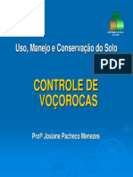 Controle de Voçorocas