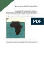 Africa Movimientos Migratorios