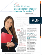 Comment financer vos actions de formation