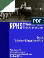 Revista Piauiense de História Social e do Trabalho, Ano II, n.03.