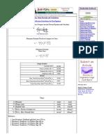 Compression and Torsion Equations and Calculator