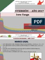Conozca el Plan  de Inversión 2017 en su primera carga de la Alcaldía de San Fernando.