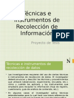 Técnicas e Instrumentos de Recolección de Información