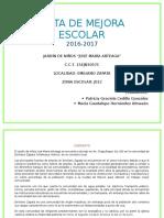 Ruta de Mejora Ciclo 2016-2017 Planeacion y Gestion