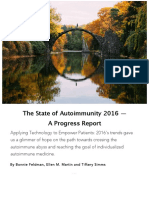 The State of Autoimmunity 2016 - A Progress Report