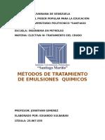 Informe Método de tratamiento de emulsiones Eduardo sulbaran