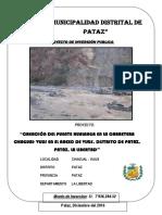 Perfil Puente Hualanga - Pataz