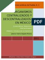 Organismos Centralizados y Descentralizados en Mexico