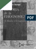 CARO BAROJA. Historia de La Fisiognómica. El Rostro y El Cuerpo. I