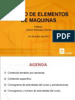 PRESENTACION CURSO DISEÑO ELEMENTOS DE MAQUINA