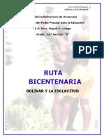 Bolivar Frente a La Esclavitud