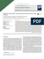Art. Científ.-aplicação Do Modelo de PPP No Tratamento de Esgoto Urbano