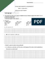 Test de Evaluare Sumativa La Matematica