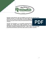 Remington Statement