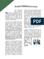 Dificultades Para El Crecimiento Con Inclusión (Desarrollo, Respeto, Cooperación, Igualdad, Democracia)