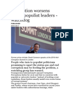 Corruption Worsens Under Populist Leaders of Irish Politicians in Ireland And Their Lies and betrayal