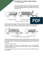 6-Bar Linkage Mechanism for Hopper Tipper Hoisting