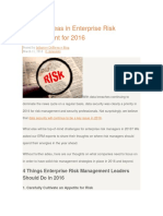 4 Focus Areas in Enterprise Risk Management for 2016