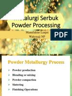 2. Powder Processing