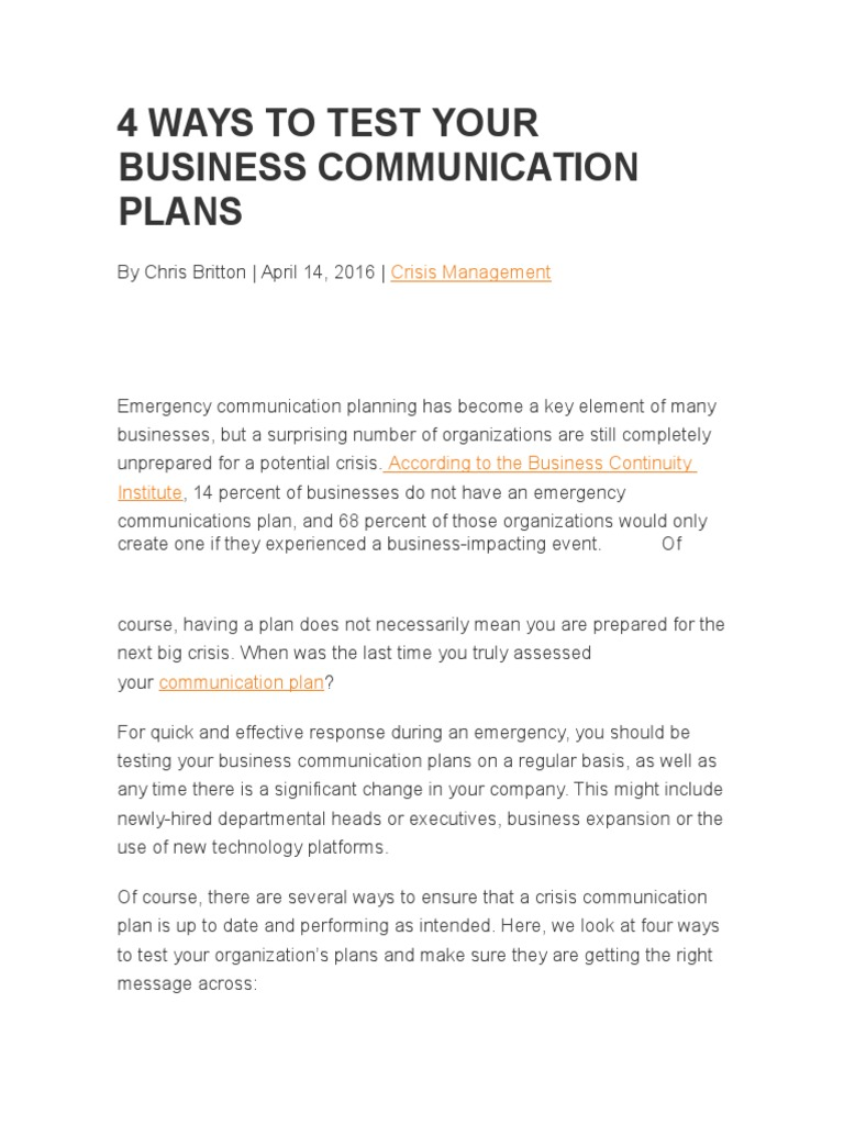 4 Ways to Test Your Business Communication Plans