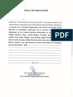 Acuerdo de La Comision Organizadora Del Proceso